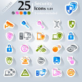 Security Icons v.01 — Stock Vector