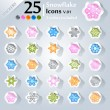 Royalty-Free Stock Векторное изображение: Christmas Icons v.01