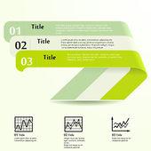 Three green — Stock Vector