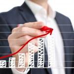 Profit chart — Stock Photo