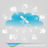 Cloud computing — Vettoriale Stock