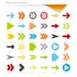 Stock Vector: Infographic arrows
