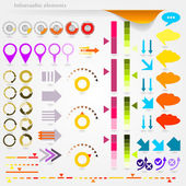 インフォ グラフィックの矢印 — ストックベクタ