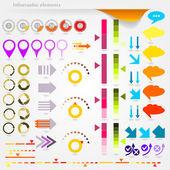 Infografica frecce — Vettoriale Stock