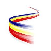 Rumänska flaggan. — Stockvektor