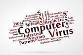 Computer virus — Stock Vector