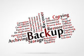 Backup — Stock Vector
