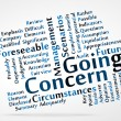 Stock Vector: Going Concern