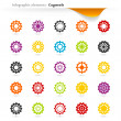 Infographic cogwheels — Stock Vector