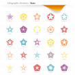 Infographic stars — Stock Vector