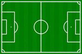Voetbalveld — Stockvector