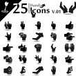 Stock vektor: Hand Icons v.01