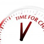 tiempo de cambio — Vector de stock