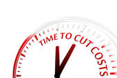 Time to cut costs — Stock Vector