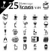 Beverage Icons v.01 — Stock Vector