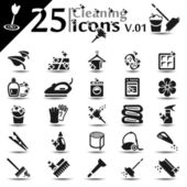 Cleaning Icons v.01 — Stock Vector