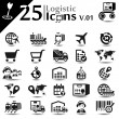 Logistic Icons v.01 — Stock Vector