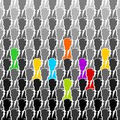 Colorful group — Cтоковый вектор