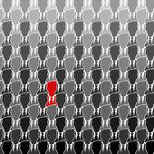 Silhouette rouge — Vecteur