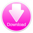 Download button pink (circle) - Stock Photo