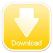 Download button yellow (square) — Stock Photo