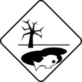Warning symbol dangerous to environment — Stock Photo