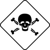 Warning symbol toxic — Stock Photo
