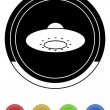Ufo icon circle - Stock Vector