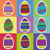 Easter Eggs Postard — Stock Vector