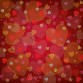 Background with different hearts — Stock Vector