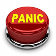 3d button red panic stop push — Stock Photo #19001755