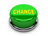 3d button green chance start push — Stock Photo
