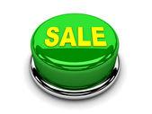 3d button green sale start push — Stock Photo