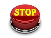 3d button red stop break push — Photo