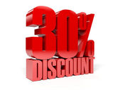30 percent discount. Concept 3D illustration. — Stock Photo