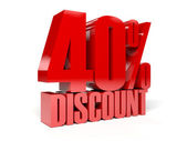 40 percent discount. Concept 3D illustration. — Stock Photo