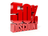 50 percent discount. Concept 3D illustration. — Stock Photo