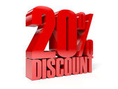20 percent discount. Concept 3D illustration. — Foto de Stock