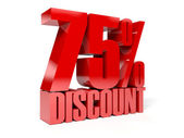 75 percent discount. Concept 3D illustration. — Stock Photo