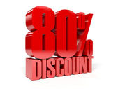 80 percent discount. Concept 3D illustration. — Stock Photo