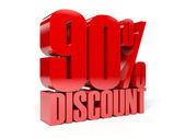 90 percent discount. Concept 3D illustration. — Stock Photo