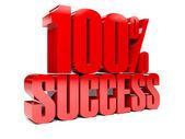 3D text 100 percent success. Concept illustration. — Stock Photo