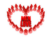 Men love. Concept 3D illustration — Stock Photo