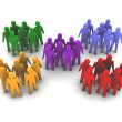 Different groups of people. Concept 3D illustration - Stock Photo