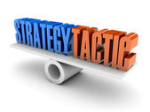 Strategy and Tactic balance. Concept 3D illustration. — Stock Photo