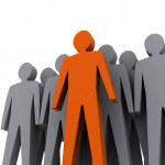 Team leader. Company boss. Teamwork. Concept 3D illustration — Stock Photo #22930286