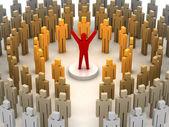 Leadership power. Concept 3D illustration — Stock Photo