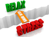 Calm down is the bridge from STRESS to RELAX. Concept 3D illustration. — Stock Photo