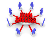 Team success. Concept 3D illustration. — Stock Photo