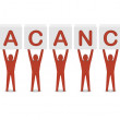 Stock Photo: Men holding word vacancy. Concept 3D illustration.